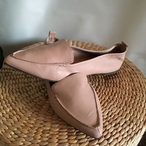 Aldo Pink Leather Pointed Flats US 7